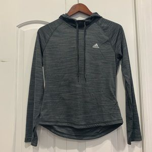 Adidas Grey Cowl Sweater Small Climalite